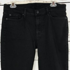 7 For All Mankind Jeans Gwenevere Black Skinny Leg